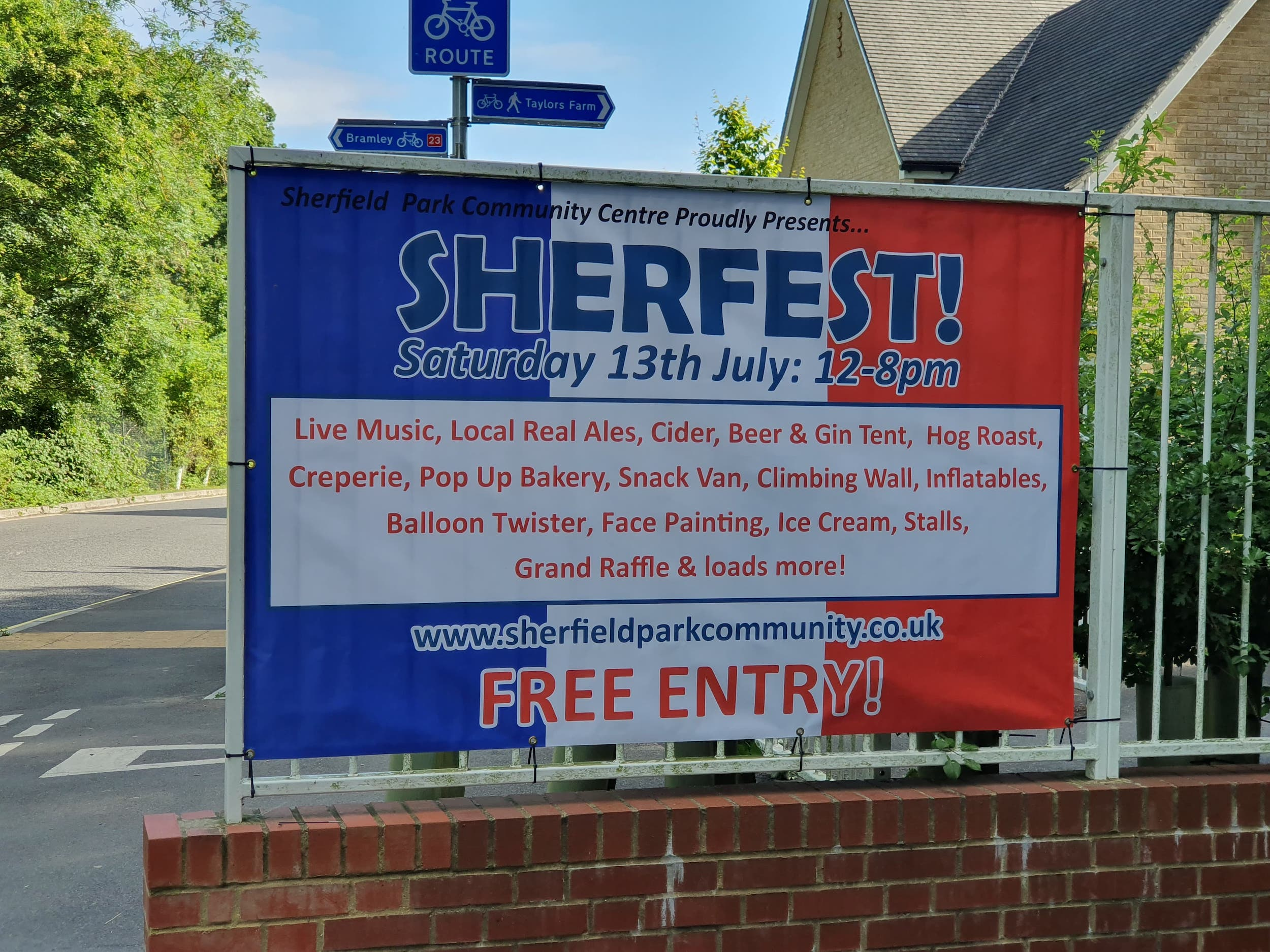 Signs | Banner for Sherfest